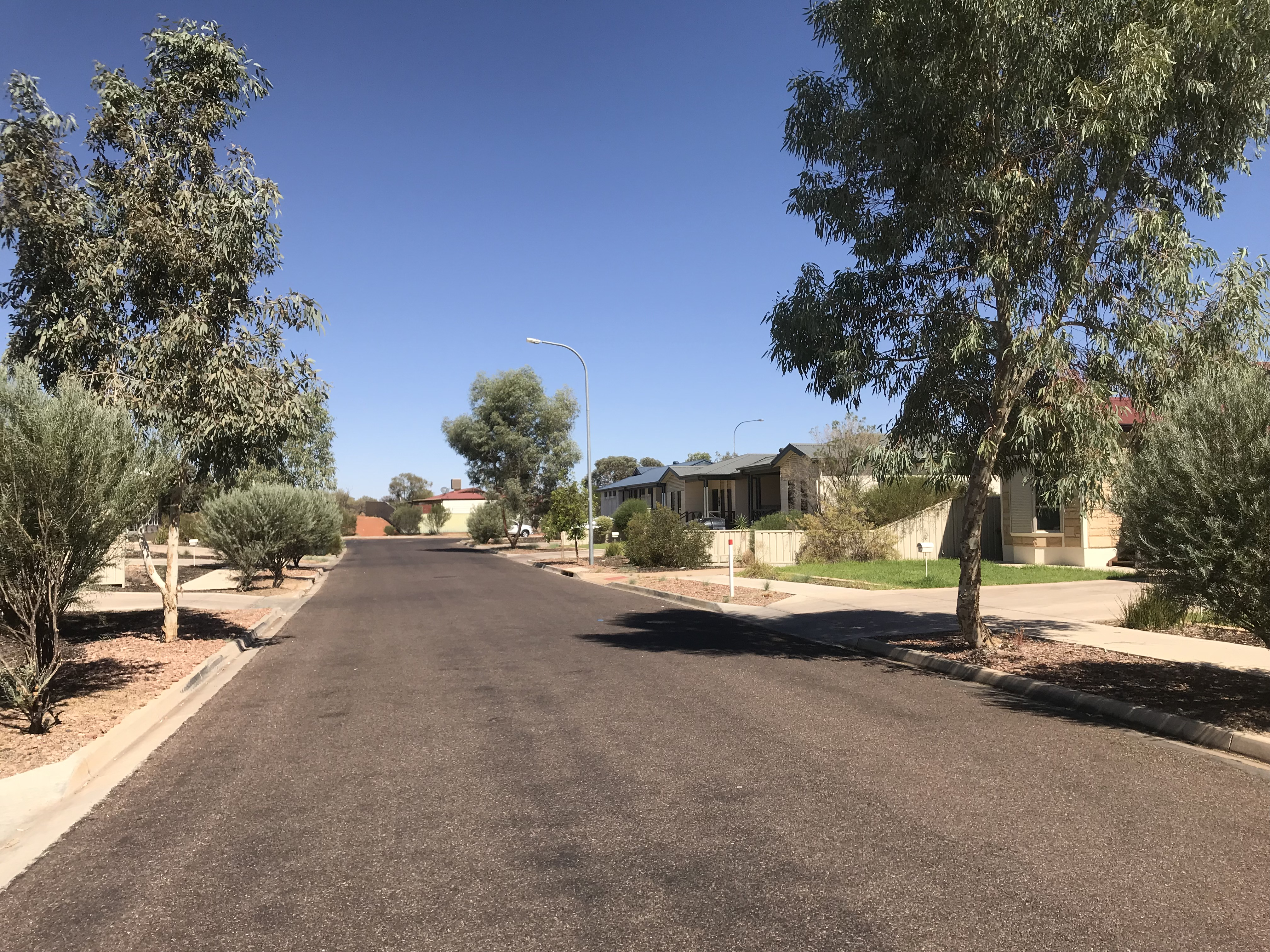 Street with houses