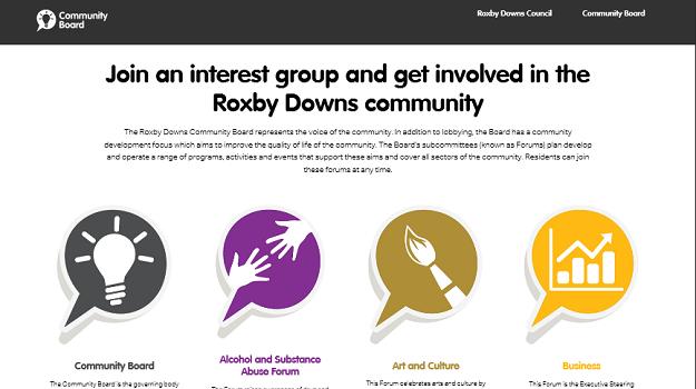 Community Board Website