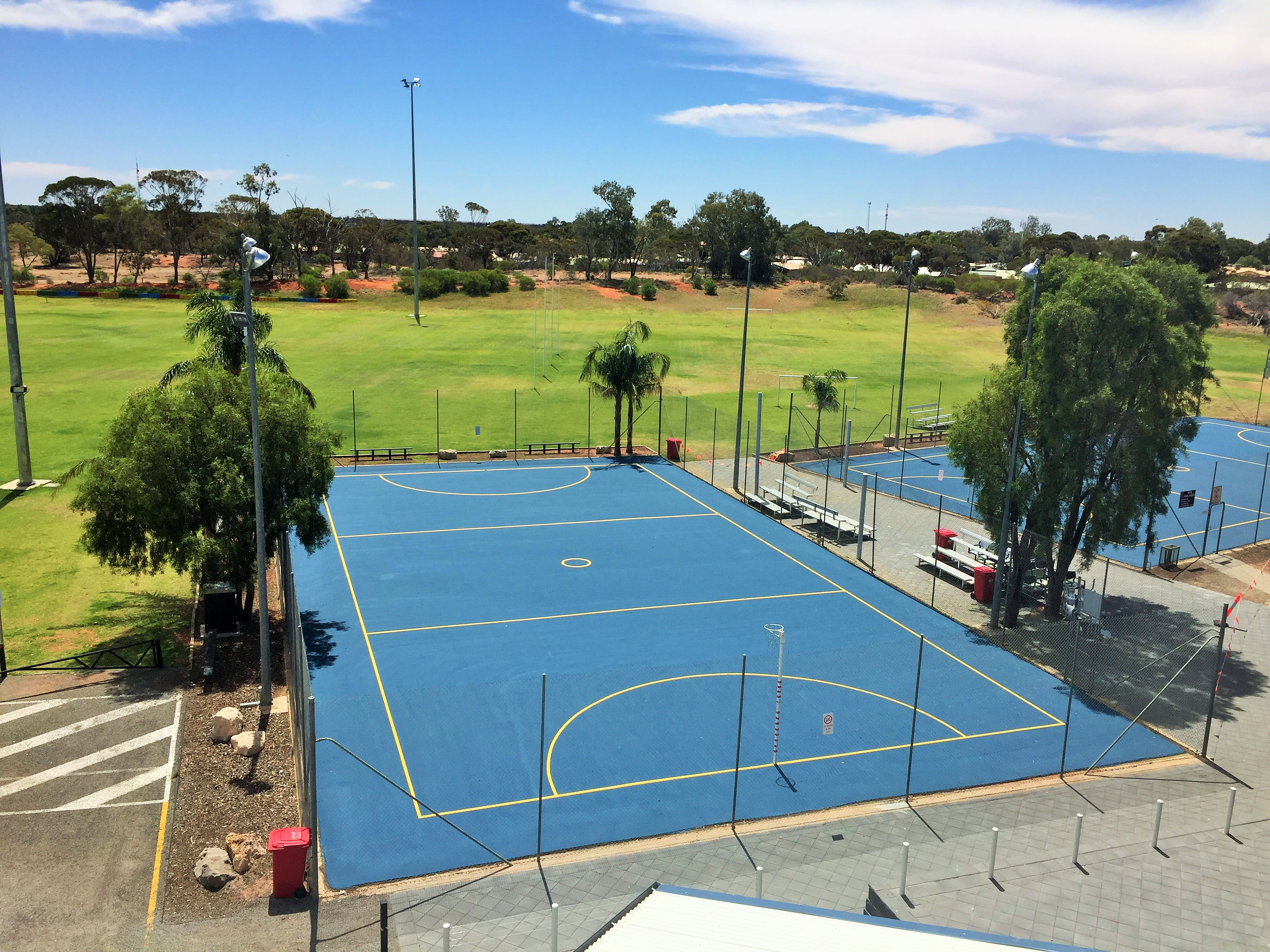 Resurfaced netball courts