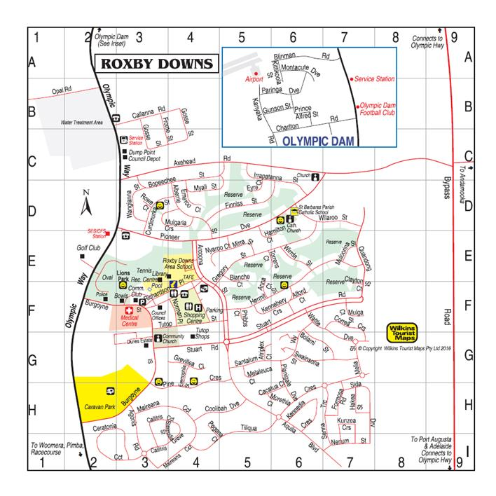 Roxby Downs Map